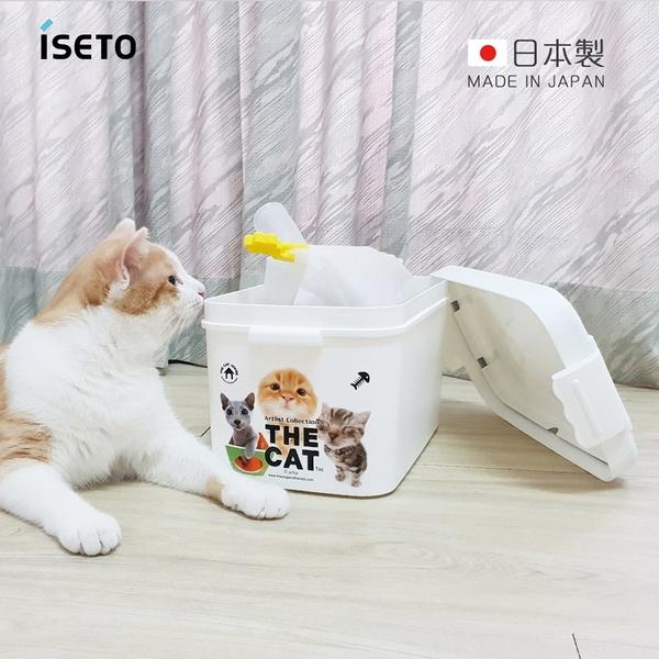 【日本ISETO】日製寵物飼料零食密封收納桶-7L