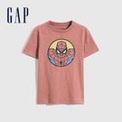 Gap男童 Gap x Marvel 漫威系列純棉短袖T恤 689819-陶器紅