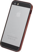 【唐吉】POWER SUPPORT iPhone SE/5/5S 專用 Flat Bumper 金屬紅邊框