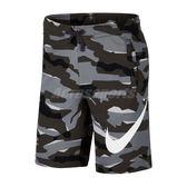 Nike 短褲 Sportswear Camo Short 黑 迷彩 勾勾 男款 【PUMP306】 AQ0603-065