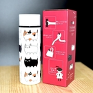 貓三兄弟 POKETLE 超輕量 不鏽鋼保溫瓶 保冰隨行瓶 140ml 日本正版