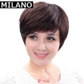 假髮(短髮)-高檔中老年成熟逼真女假髮2色73em35【時尚巴黎】