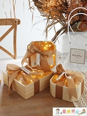 禮物盒 伴娘伴手禮盒空盒包裝盒子儀式感網紅高檔精致口紅香水生日禮物盒 童趣