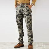 迷彩褲男士工裝褲男長褲加肥加大尺碼軍裝褲戶外寬鬆休閒多袋褲 潮男街