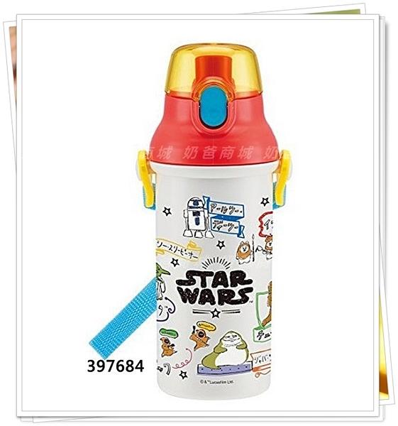 日本製 STAR WARS 星際大戰 397684 直飲水壺彈蓋式水壺 480ml 新款
