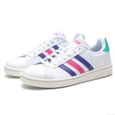 ADIDAS GRANDCOURT  白 紫粉綠 皮革  運動鞋 休閒鞋 女(布魯克林) EF9192
