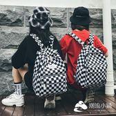 後背包-書包女韓版原宿 高中學生潮背包學院風格子雙肩包
