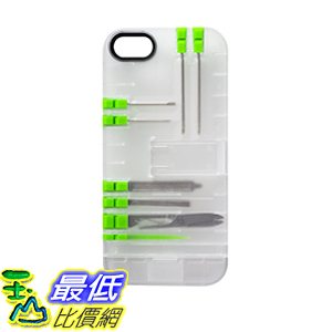 [美國直購] IN1 Multi Tool Case for iPhone SE - Retail Packaging - Clear with White tools