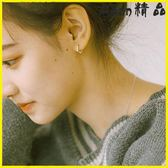 耳環-純銀簡約百搭小耳圈女韓國氣質耳扣個性耳骨耳環-艾尚精品 艾尚精品