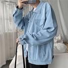夾克男 春秋季寬鬆破洞牛仔外套男潮流正韓機能工裝夾克百搭港風衣服