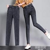 打底褲女外穿2021新款仿牛仔魔術小腳春秋黑色高腰顯瘦九分薄款夏