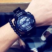 潮牌學生電子錶 運動防水手錶 男青少年時尚潮流大錶 盤個性夜光女錶 壹電部落