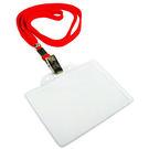 無印字證件套/派司套/識別套+布帶整組 紅台製