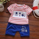 0男童裝1純棉2兒童3寶寶夏天衣服4短袖T恤套裝5夏裝6歲周歲韓版潮 小巨蛋之家