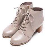 DIANA 自然風潮–率性簡約大方綁帶側拉鍊短靴 – 灰★特價商品恕不能換貨★