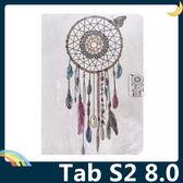 三星 Tab S2 8.0 T710/715 彩繪簡約保護套 超薄側翻皮套 卡通塗鴉 支架 插卡 磁扣 平板套 保護殼