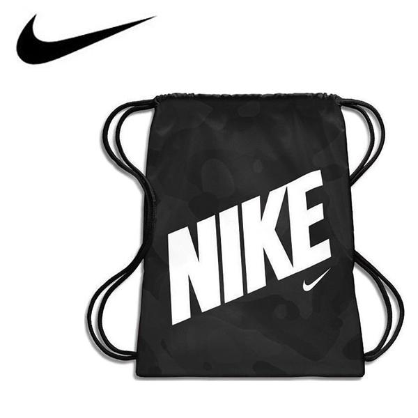【橘子包包館】Nike 束口袋/束口後背包 BA5992-010 黑迷彩