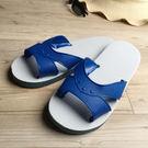 台灣製造-橡膠H拖-藍白拖鞋 -本藍