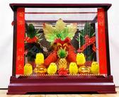 小玻璃門簾菜頭甘蔗帶路雞-女方嫁妝用品【皇家結婚用品百貨】