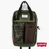 Levis 男女同款 L1機能後背包 / 重軍裝迷彩 / 都會電腦包 / 手提 後背兩用