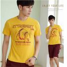 【大盤大】(T81973) 男 純棉T恤 印花 台灣製 印地安 圖案 百搭 打底衫 最愛 【2XL.3XL號斷貨】