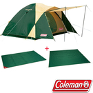 Coleman CM-17153 4-5人Cross 露營帳篷套裝組270 (含地墊及地布) 公司貨 透氣帳
