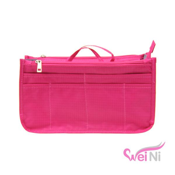 wei-ni 多隔層防潑水包中包 旅行收納袋中袋 旅行袋 收納包 化妝包 包包收納袋 包包整理袋