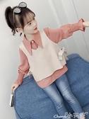 女童襯衫春裝套裝2020新款韓版兒童洋氣上衣春秋小女孩襯衣中大童 1件免運
