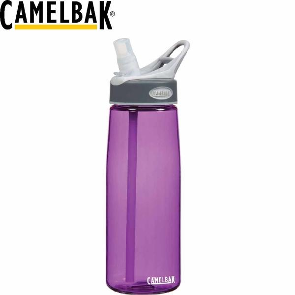 【CamelBak 美國750ml吸管運動水瓶 紫】53033/運動水壺/水壺/耐撞擊/抗菌/提把/登山/露營★滿額送
