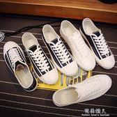 夏季帆布鞋男學生韓版潮平底小白鞋子男ulzzang百搭板鞋春季 完美情人精品館