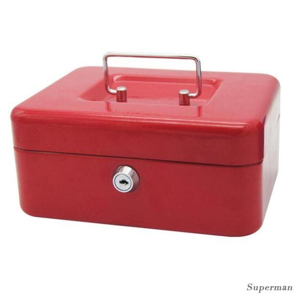 保險箱 - 小號手提金庫 帶鎖錢箱 收款箱 收銀箱 收錢盒 提款現金箱【店慶八折特惠一天】