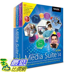 [106美國直購] 2017美國暢銷軟體 Cyberlink Media Suite 14 Ultra