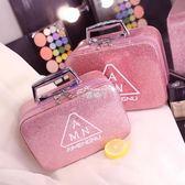 化妝包 化妝包小號便攜韓國簡約可愛少女心方袋大容量收納盒品化妝箱手提 俏腳丫