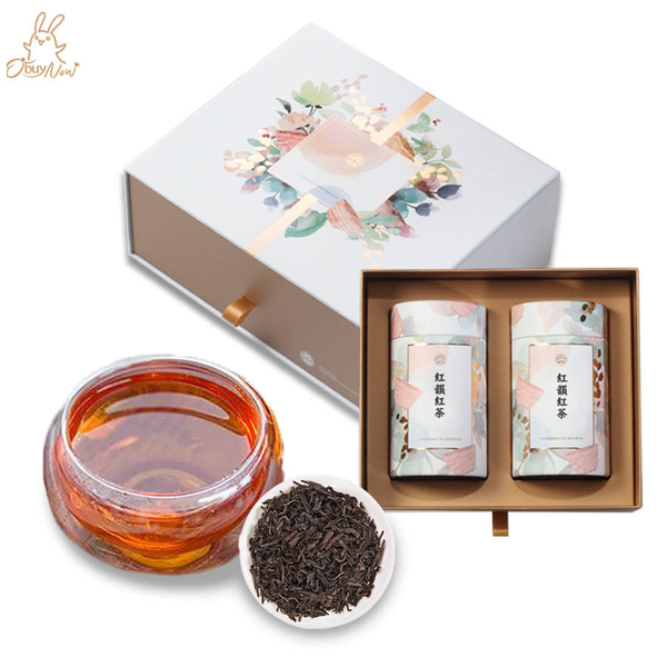 歐必買客戶送禮禮盒【紅韻紅茶60克x2】節慶送禮禮盒