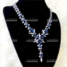 水晶冰花 | 新娘項鍊-藍鑽[57418]尾牙舞台宴會飾品