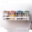 調味罐廚房用品免打孔壁掛調料盒家用調味料瓶套裝 QW5888『夢幻家居』