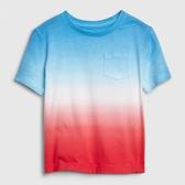Gap男幼童 棉質舒適漸層圓領短袖T恤 545379-綠色