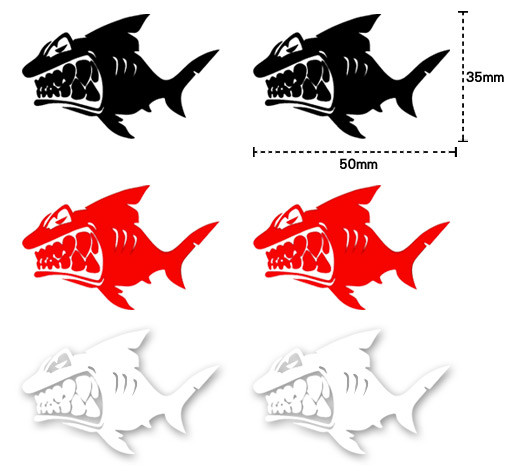【愛車族購物網】鯊魚貼紙