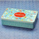 大號鐵盒 彩印明信片長方鐵盒收納盒儲物盒禮品盒裝飾盒 童趣潮品