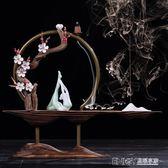 中式禪意擺件玄關辦公室客廳電視櫃創意工藝軟裝飾品擺設倒流香爐igo 溫暖享家