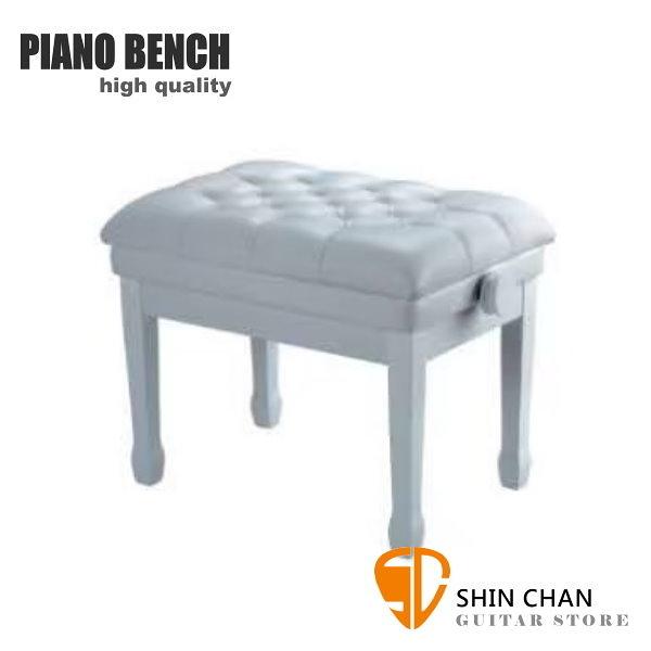 PIANO BENCH 豪華升降鋼琴椅 PJ006 白色 可調整高度鋼琴椅/電鋼琴椅/電子琴椅/piano琴椅/Keyboard椅