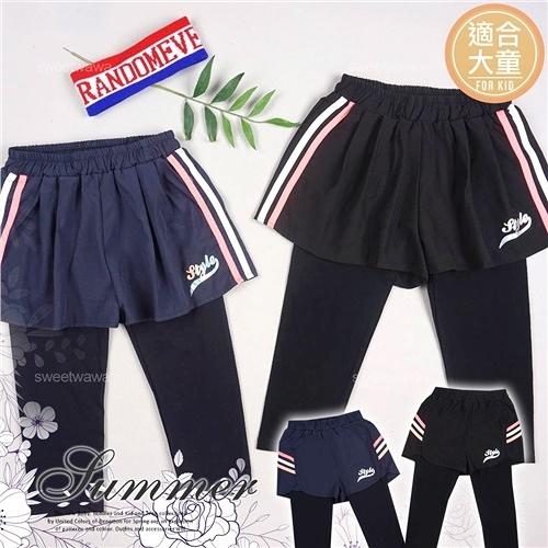 【封館5折】(大童款-女)運動風潮~側邊線條機能內搭褲褲中褲-2款(290688)