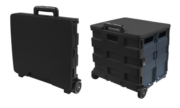 [家事達]TRENY -  折疊購物車送蓋子 - 灰黑大號 上蓋可乘坐 可收納 菜籃車 手推車 購物車 行李車