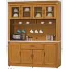 櫥櫃 餐櫃 HE-381-2 潘朵拉香檜5.4尺石面碗碟櫃【大眾家居舘】