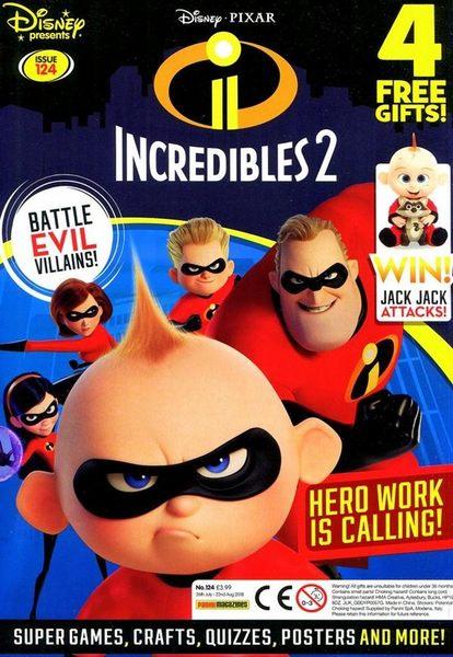 Disney presents/ INCREDIBLES 2 0726-0822/2018 第124期+卡片,手套