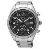 【分期0利率】SEIKO 精工錶  三眼計時賽車錶 黑面 43mm 全新原廠公司貨 SSB269P1