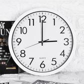 客廳個性創意時尚家用現代簡約臥室靜音電子掛鐘 QW7532『夢幻家居』