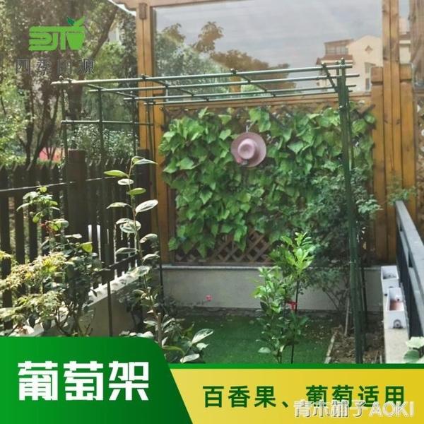 葡萄架子戶外室外園藝爬藤架包塑鋼管爬藤支架百香果葡萄攀爬架子ATF「青木鋪子」