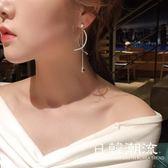 耳環  2019新款s925銀針耳環女 個性潮人長款流蘇耳釘超仙名媛風