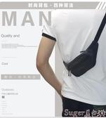 新品腰包新款帆布貼身腰包手機腰包 男士戶外運動休閒 跑步防盜隱形包